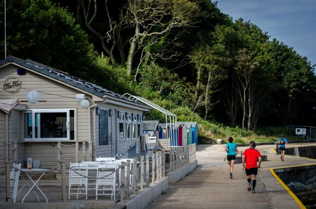 The Hut & Beach Huts. August 2013.